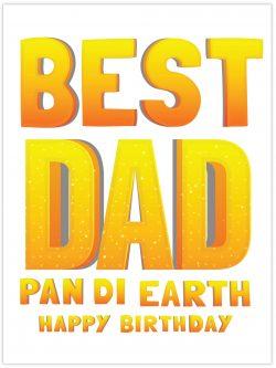 best dad pan di earth happy birthday
