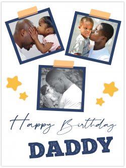 3 frames happy birthday daddy