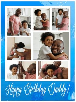 7 frames happy birthday daddy