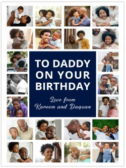 many pictures to daddy on your birthday