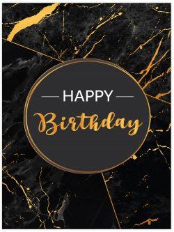 happy birthday marble effect