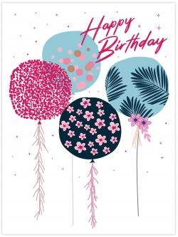 Happy Birthday Colourful balloons