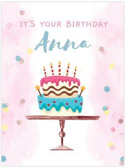 It's your birthday cake