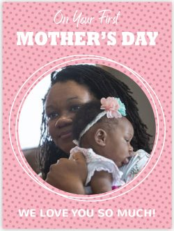 pink with dots first mother's day