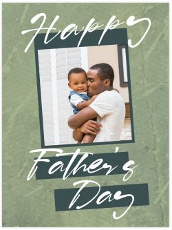 Happy father's day with green background